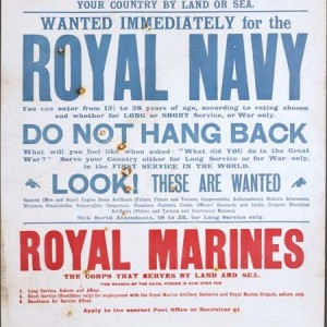 Wanted immediately for the Royal Navy - Poster